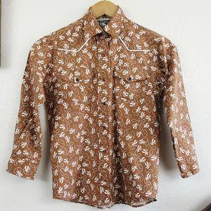 Vintage 80s Novelty Western Shirt